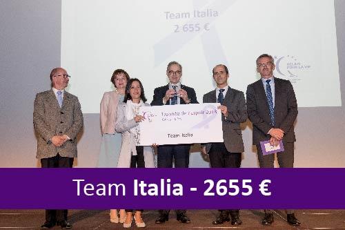 Relais pour la vie 2018. Recolte de fonds équipe italia.