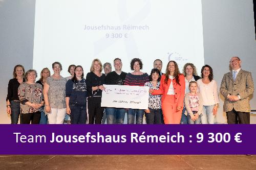 Relais pour la vie 2018. Récole de fonds de l'équipe Jousefshaus Rémeich