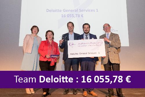Relais pour la vie 2018. Récole de fonds de l'équipe Deloitte