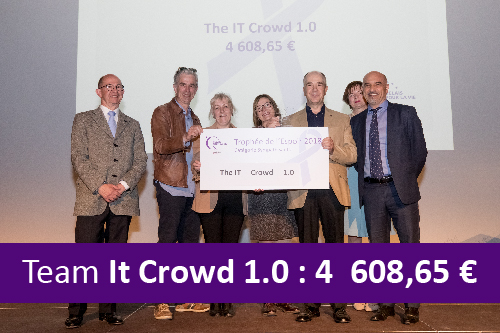 Relais pour la vie 2018. Récole de fonds de l'équipe IT Crowd